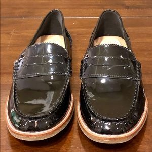 NEW Sperry Black Patent Leather Penny Loafer sz 8